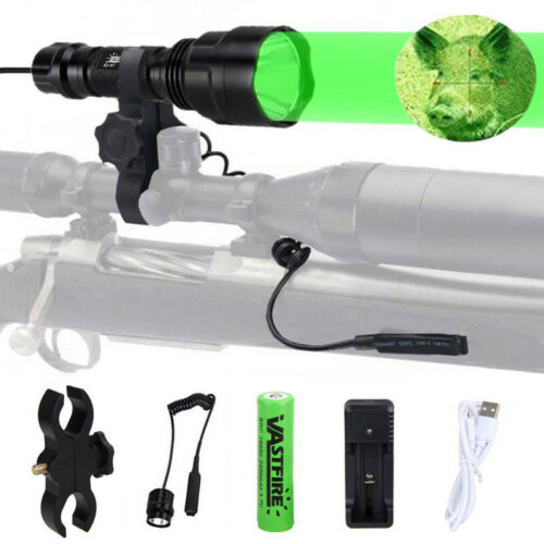 350 Yard Green LED Hog Night Torch Light For Coyote Hog Varmint Predator Hunting