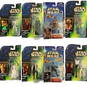 Star Wars Action Figures Lot of 8 Luke Skywalker Mace Windu Princess Leia Jango