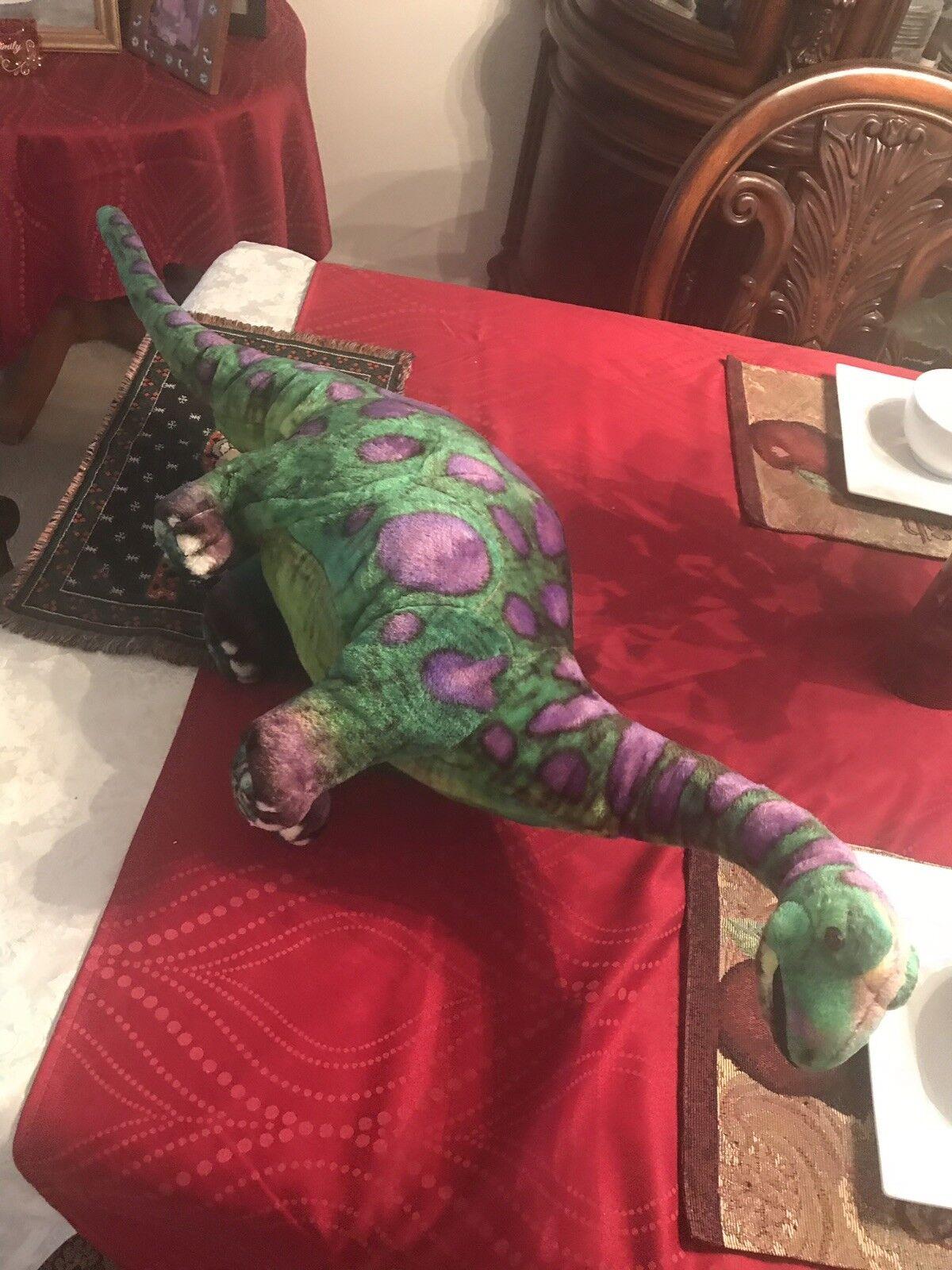 Melissa & Doug Apatosaurus Grün lila Dinosaur Plush  2146 Stuffed Animal RARE