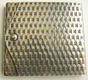 Vintage Metal Matchbox Match Safe 1920s - 1930s