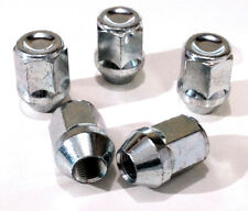 Set of 5 x M12 x 1.25, 21mm Hex, alloy wheel nuts lugs bolts for Nissan Cars