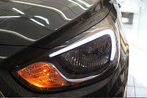 LED Eye Line Head Lamp Lights DRL Diy Kit For Hyundai Accent Solaris 2011~2014