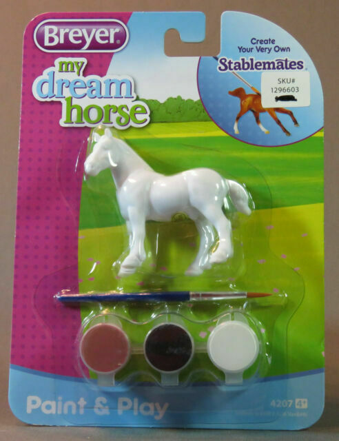New in pack Breyer Stablemate Model Horses Bundle of 4 Horses Unpainted