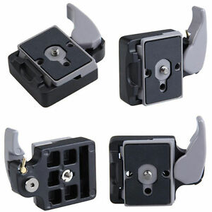 Camera-Tripod-Quick-Release-Plate-Screw-Adapter-Mount-Head-Fr-Manfrotto-200-PL14