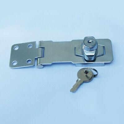 abschließbares Vorhängeschloss 100 mm Überfalle Schloss mit 2 Schlüsseln