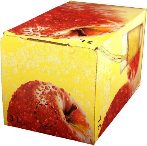 25Stück 3 Liter Bag in Box Karton in Apfel 1,08€//1Stk