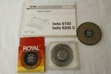 Royal Electronic Typewriter Printwheel Tile 1012 Mini Tile 1215 Amp Empty Case