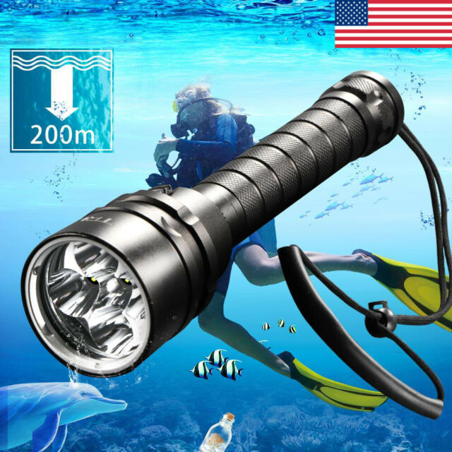 Underwater 150M 10000Lm 3x XM-L2 T6 LED Scuba Diving 18650 Flashlight Torch Lamp