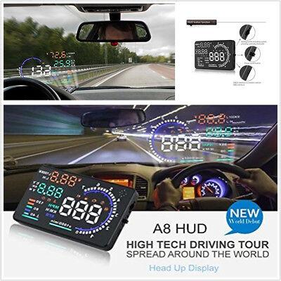 "5.5/"" OBD2 II Multi-functional Car HUD Head Up Display Kit Speed Fatigue Warning"