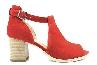 Consegna Veloce Nero Giardini P907630d Rosso Calzature Sandali Alla Caviglia Donna Ottima Qualità