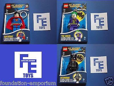 Lego DC Super Heroes Figure Keyring - Led Lite - 2014 (Please Select Keyring)