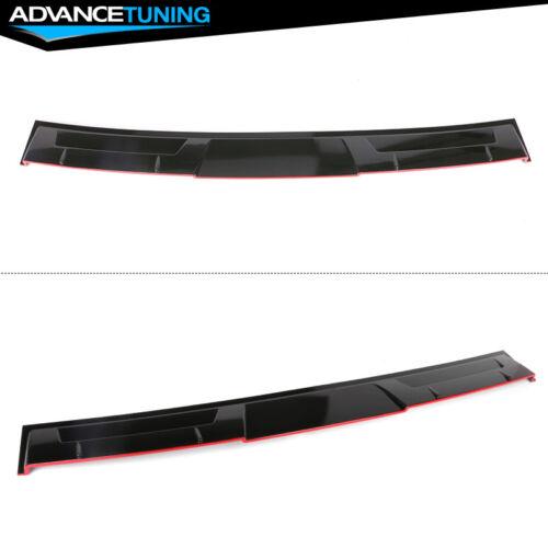 Fits 18-20 Honda Accord Ikon Style Rear Roof Spoiler Gloss Black /& Red Lip ABS