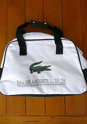 Eau De Lacoste L.12.12 White duffle Bag  Male Sports Bag Weekender ... 0b4295060e686