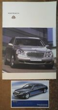 MAYBACH LIMOUSINES 2002 2003 UK Mkt Factory Brochure + Postcard - Type 57 62