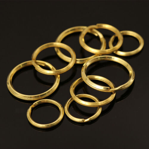20 25 30 mm Laiton Massif Porte-clés double boucle Split Jump Ring Open Jump Rings x10