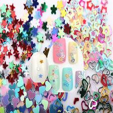 5000Pcs 3mm Mixed Glitter Heart Star Flower Sequins DIY Nail Art Stickers Decals