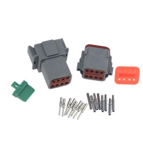 1sets Deutsch 8 Pin wasserdichter elektrischer Draht Stecker DT06-8S 16-18AWG