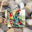 Animaux perroquets Hobby Art cabochon verre carrelage Chaîne Collier Pendentif Argent