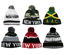 new style dbaa7 fdbe0 item 3 New York NY Jamaica Camo Camouflage Aztec Pull On Bobble Pom Pom  Beanie Cap Hat -New York NY Jamaica Camo Camouflage Aztec Pull On Bobble Pom  Pom ...