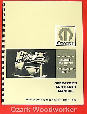 Cnc, Metalworking & Manufacturing Objective Monarch 10ee Older Metal Lathe Operators & Parts Manual 0476 Business & Industrial