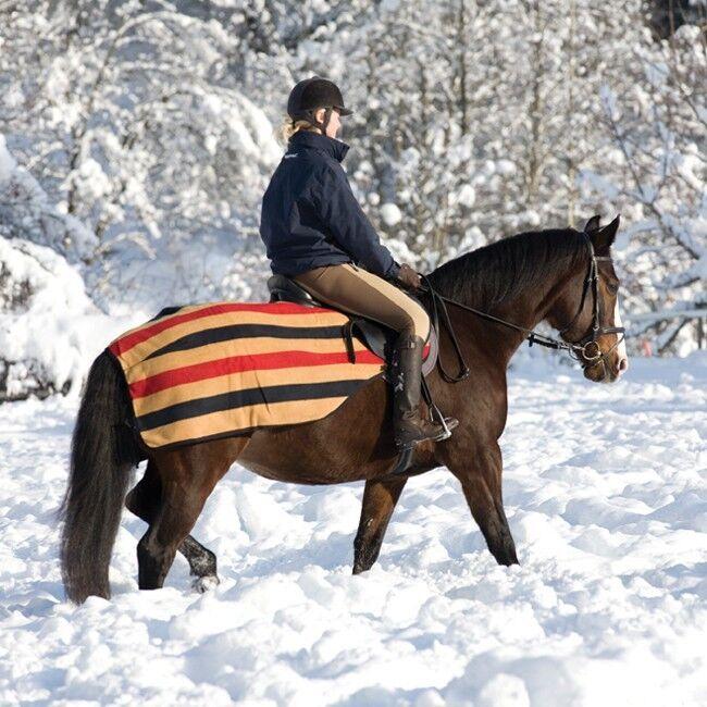 Horseware Rambo Newmarket competition Fleece-negro rojo oro