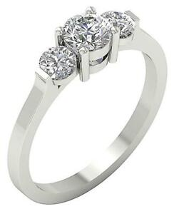Solitaire Engagement Ring I1 H 1.01ct Genuine Diamond 14kt Solid Gold Prong Set Fine Jewelry