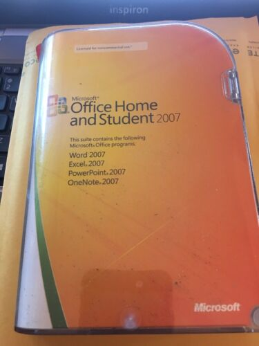 Genuine Microsoft Office Home and Student 2007 W// Product Key /& CD