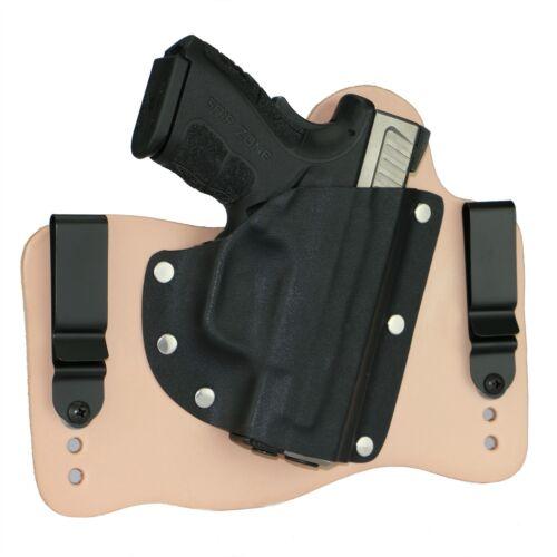 "FoxX Leather /& Kydex IWB Hybrid Holster Springfield XD Mod 2 3/"" Sub 9//40 Natural"