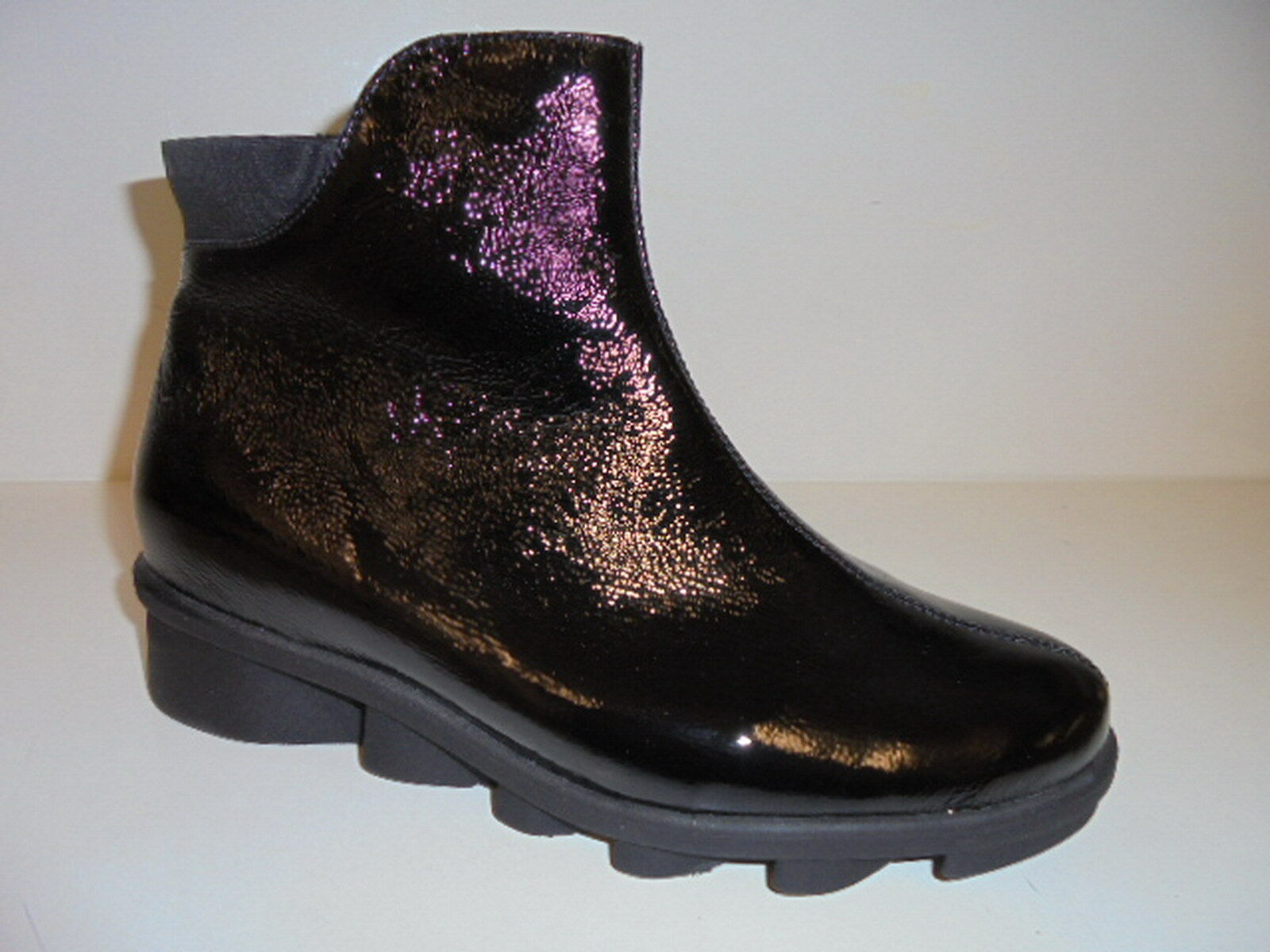 333803 Waldläufer Damenschuhe Boots Lackleder schwarz UK 5 Gr. 38