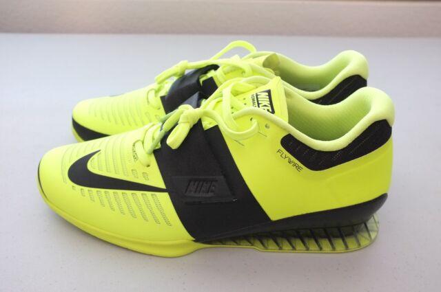 8322b8d760de Nike Mens Romaleos 3 Weightlifting Training Shoes Volt Black 852933-700  Size 12