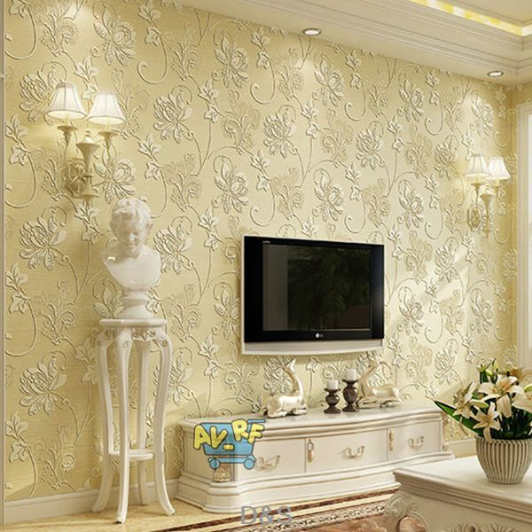 3d Non-woven Wallpaper Roll For Living Room Bedroom