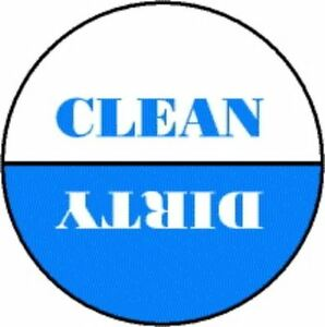Blue White Dishwasher Magnet Clean Dirty | eBay