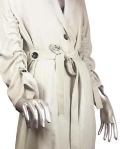 Trench Light Grey Gathered Bnwt Taglia With M Coat 7753670 Zara Rif Sleeves 6fb7yg