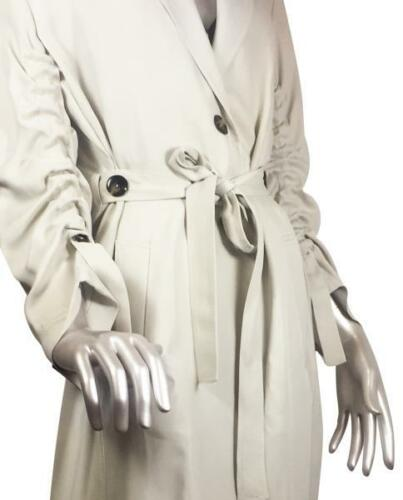 Bnwt With Light Trench Rif Zara Gathered Taglia Grey 7753 670 M Coat Sleeves xqpXqwrn5