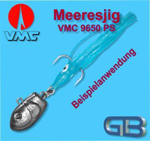 Meeresjig-Dorschbombe-Jig-Bleikopf-VMC-Drillinge-aus-Perma-Steel-Gr-2-0