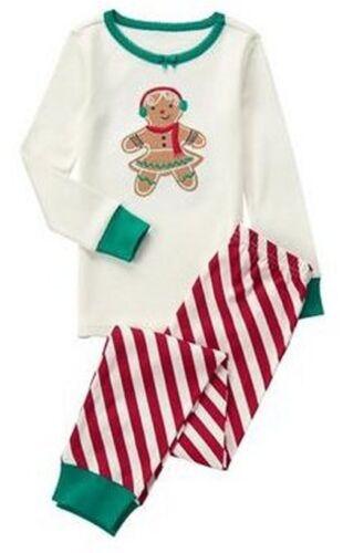 NWT Gymboree GINGERBREAD 2016 Christmas//Holiday Stripe Pajamas//Gymmies Boy//Girl