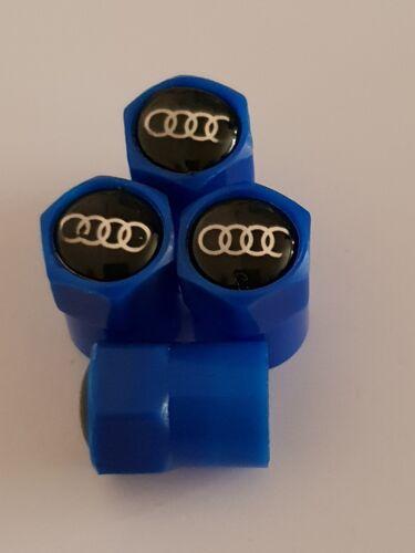 AUDI BLU Valvola Polvere Tappi in Plastica Antiaderente 7 colori S line RS R8 S5 A4 Q7 Rs6