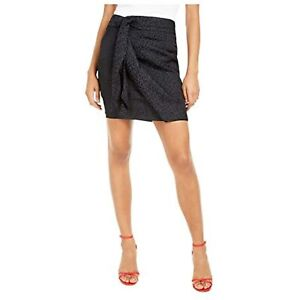 GUESS Women's Animal Print Mini Skirt, Pleated Ruched, Black, Size 2, $79, NwT