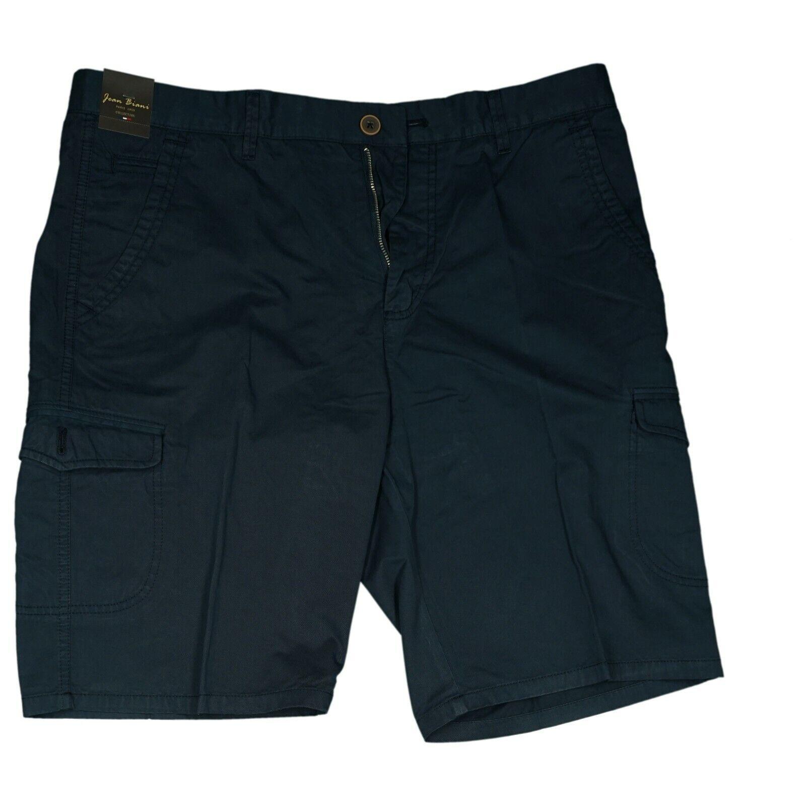 Jean Biani señores cargo verano pantalones cortos, bermudas de short XXXL 56 w40 marine nuevo