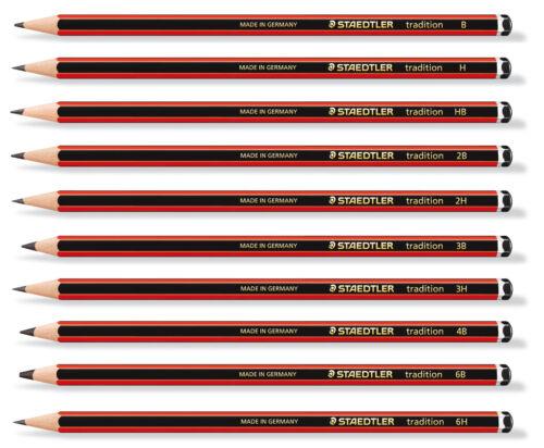 Staedtler Tradition 110 Sketch Pencils 6B 5B 4B 3B 2B B HB F H 2H 3H 4H 12X Set