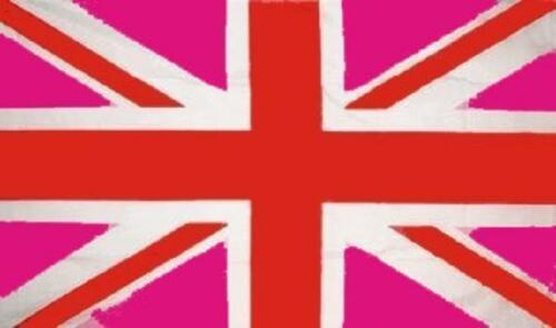 Fahne Flagge Grossbritannien Union Jack Rosa 90 x 150 cm