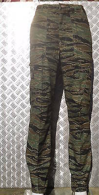 """Treu Tiger Camouflage Military Style Combat / Cargo Trousers Size 32""""-36"""" - New"""