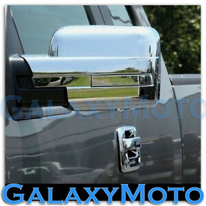 09-14-Ford-F150-Truck-Chrome-Mirror-without-Turn-Light-Signal-Full-Cover-a-Pair