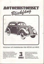Motorhistoriskt Magasin Annon Swedish Car Magazine 3 1995 Rover 032717nonDBE