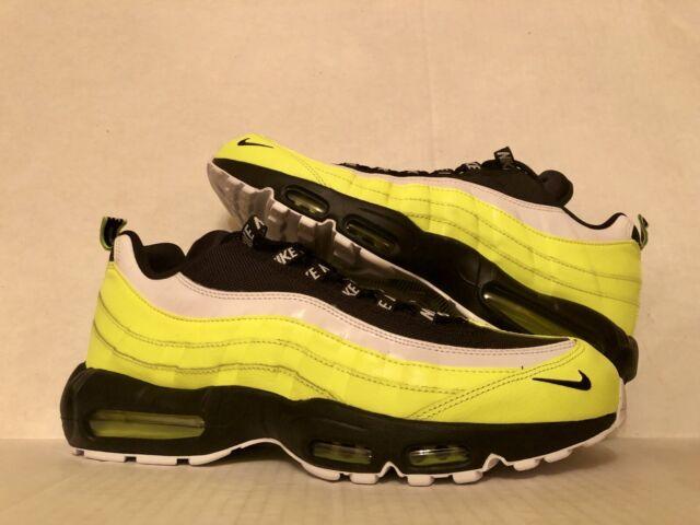 Nike Air Max 95 Premium Mens 538416 701 Volt Glow Black Running Shoes Size 13