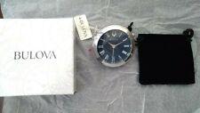 Bulova Classic Travel Clock Silver