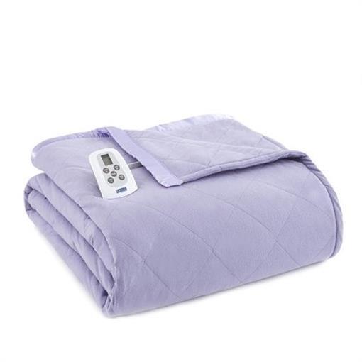 Shavel EBQNAMT Micro Flannel Queen Amethyst Electric Heated Comforter & Blanket