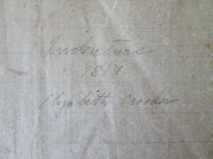 Vintage-INDENTURE-of-Elizabeth-CROCKER-1819-Fremington-Devon-England-HANDWRITTEN