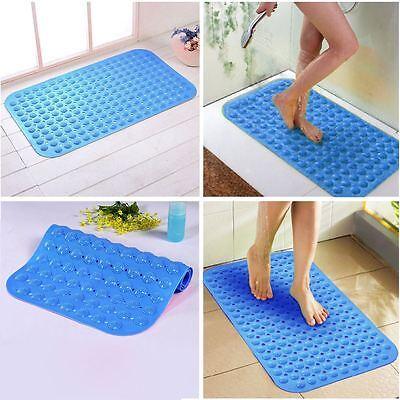 Blue Large Strong Suction Anti Non Slip Bath Shower Mat
