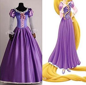 ampia scelta di colori e disegni up-to-date styling super economico Dettagli su Rapunzel Vestito Carnevale Donna Dress up Tangled Woman Costume  RAPUW02